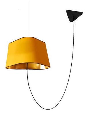 Suspension Grand Nuage L 43 cm / Version déportée - Designheure jaune,or laqué en matière plastique