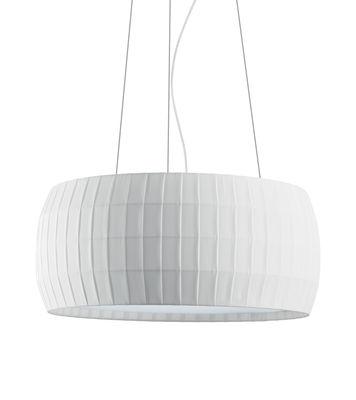 Suspension Isamu / Ø 53 cm - Tissu - Carpyen blanc en tissu