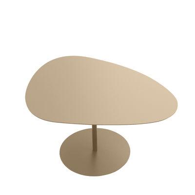 Table basse Galet n°2 / OUTDOOR - 58 x 75 - H 38,7 cm - Matière Grise sable en métal