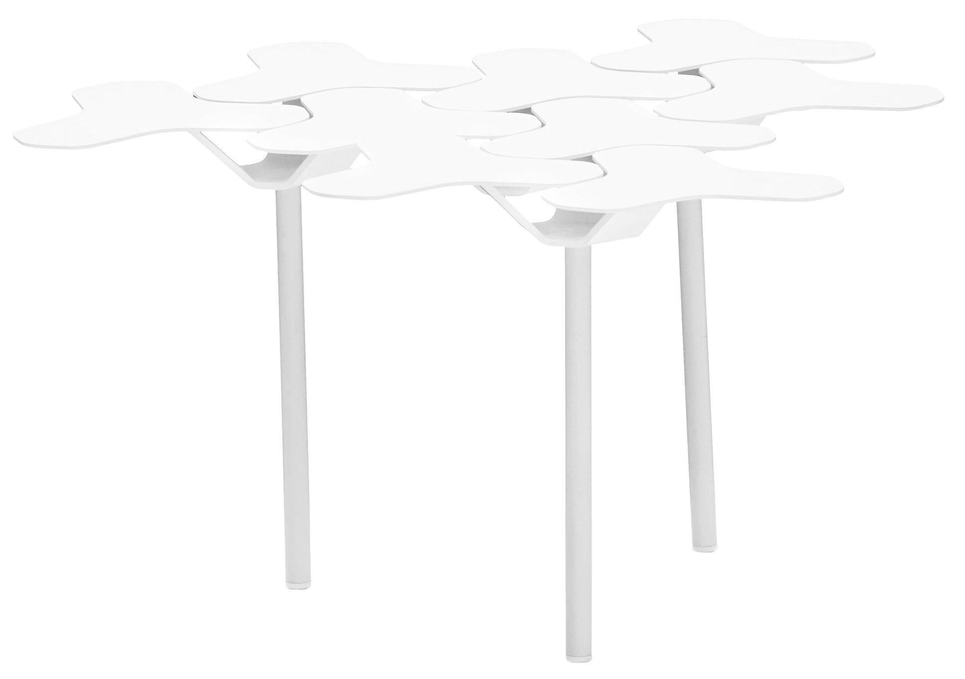 Mobilier - Tables basses - Table d'appoint Nanook / 60 x 63 cm - Métal - Moroso - Blanc - Acier verni