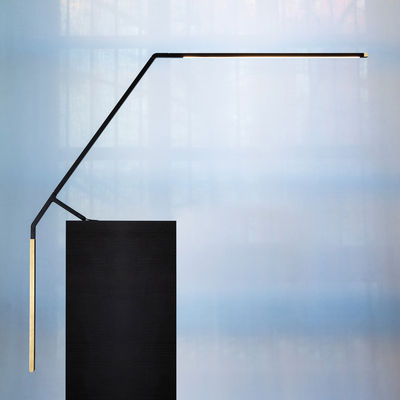 Lighting - Table Lamps - Bird LED Table lamp - / L 94 cm by Nemo - Black / Brass - Brass, Extruded aluminium, Fibreglass, Polymer