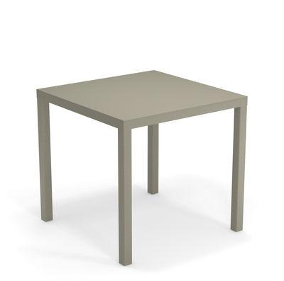 Table Nova Métal 80 x 80 cm Emu gris vert en métal