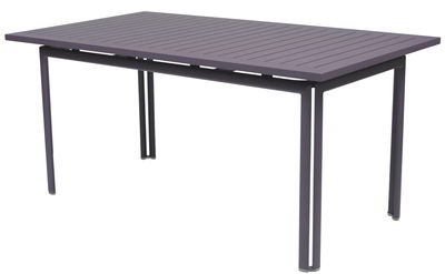 Jardin - Tables de jardin - Table rectangulaire Costa / 160 x 80 cm - Fermob - Prune - Aluminium