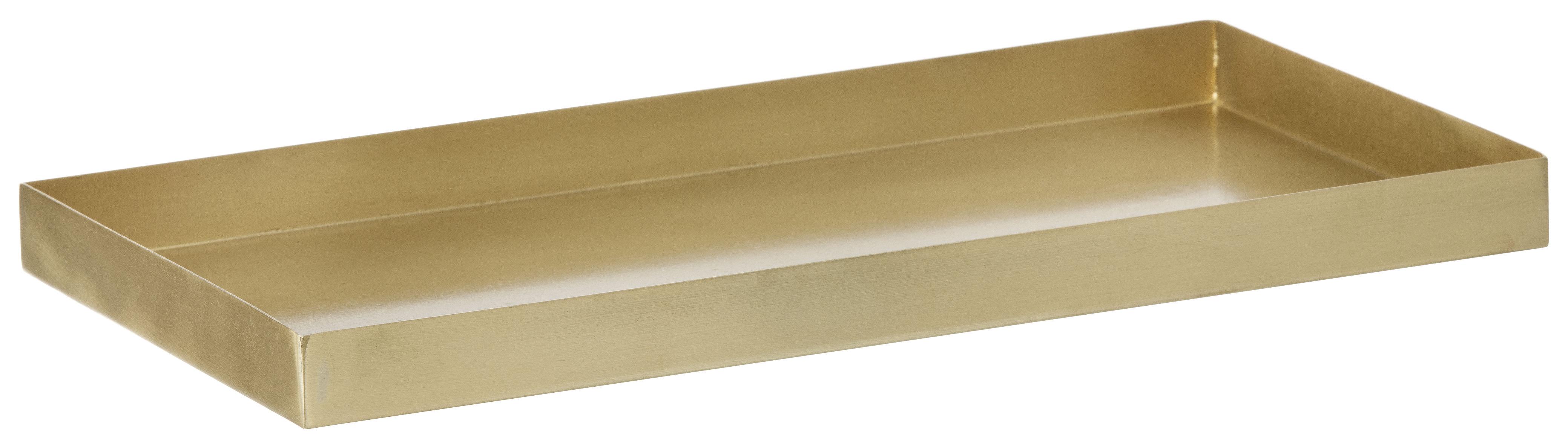 Accessoires - Accessoires für das Büro - Brass Tablett / Ablage - 15 x 30 cm - Ferm Living - Messing - Messing