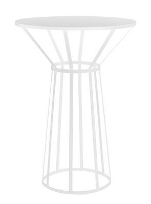 Arredamento - Tavolini  - Guéridon Hollo / Ø 50 x H 73 cm - Petite Friture - Bianco - Acciaio laccato