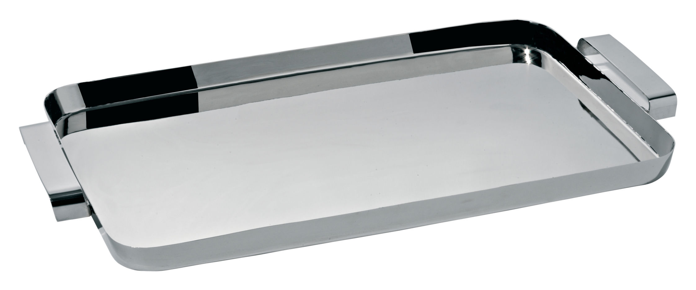 Tableware - Trays - Tau Tray by Alessi - Steel - Stainless steel