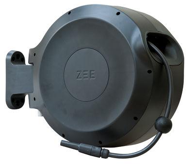 Tuyau d'arrosage Mirtoon 30m / Enrouleur automatique - Pistolet offert - Zee noir en matière plastique