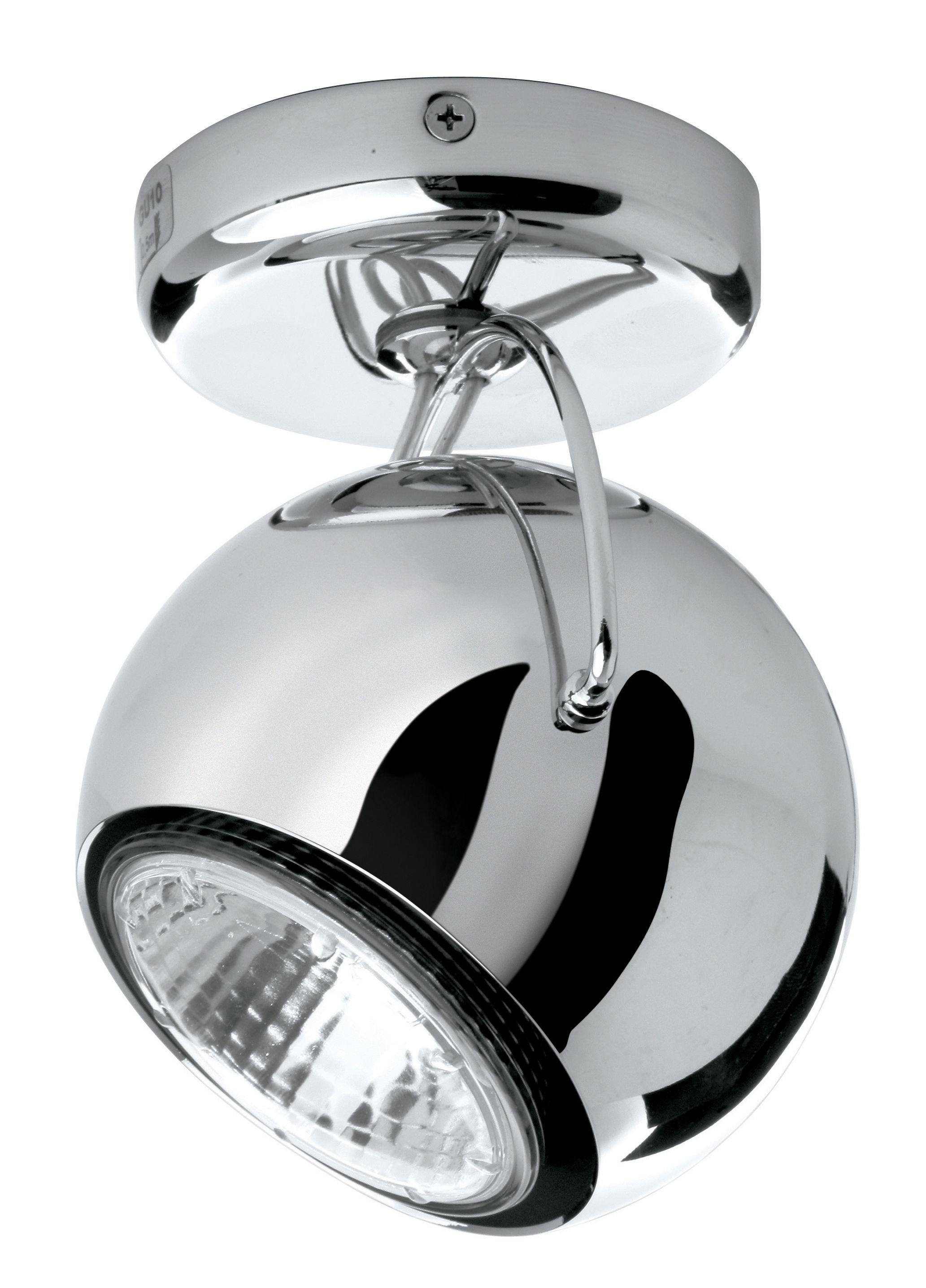 Lighting - Wall Lights - Beluga Wall light - Ceiling light - metal version by Fabbian - chromed - Chromed metal