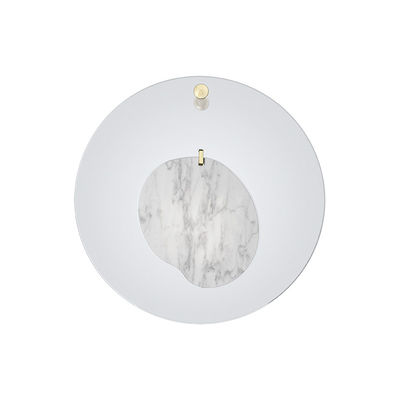Lighting - Wall Lights - Gioia Small Wall light - / LED - Ø 40 cm / Marble by Foscarini - Blue / White marble - Marble, Plexiglas, Steel