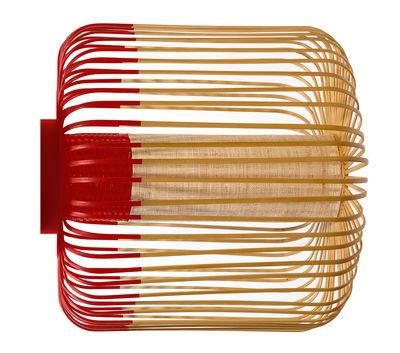 Bamboo light M Wandleuchte / Deckenleuchte - Ø 45 cm x H 40 cm - Forestier - Rot,Bambus Natur
