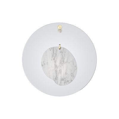 Leuchten - Wandleuchten - Gioia Small Wandleuchte / LED - Ø 40 cm / Marmor - Foscarini - Blau / Weißer Marmor - Marmor, Plexiglas, Stahl