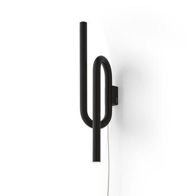 Leuchten - Wandleuchten - Tobia LED Wandleuchte / Metall - H 40 cm - Foscarini - Schwarz - lackiertes Metall