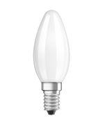 Ampoule LED E14 / Flamme dépolie - 2,5W=25W (2700K, blanc chaud) - Osram blanc en verre