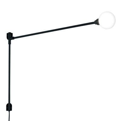 Illuminazione - Lampade da parete - Applique con presa Potence pivotante Mini - by Charlotte Perriand / L 100 cm di Nemo - L 100 cm / Noir - metallo verniciato, Vetro