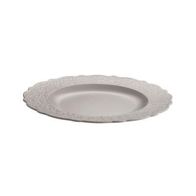 Arts de la table - Assiettes - Assiette Dressed en plein air / Mélamine - Alessi - Gris chaud - Mélamine