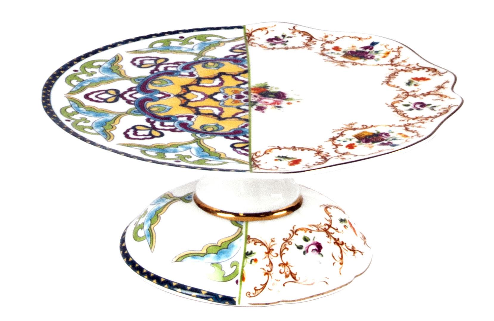 Tableware - Serving Plates - Hybrid Léandra Baking tray by Seletti - Multicolor - Bone china