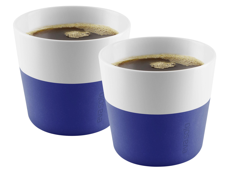 Tischkultur - Tassen und Becher - Lungo Becher / 2er-Set - 230 ml - H 7,9 cm - Eva Solo - Königsblau - Porzellan, Silikon