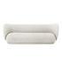 Canapé droit Rico / 3 places - L 210 cm - Tissu polyester - Ferm Living