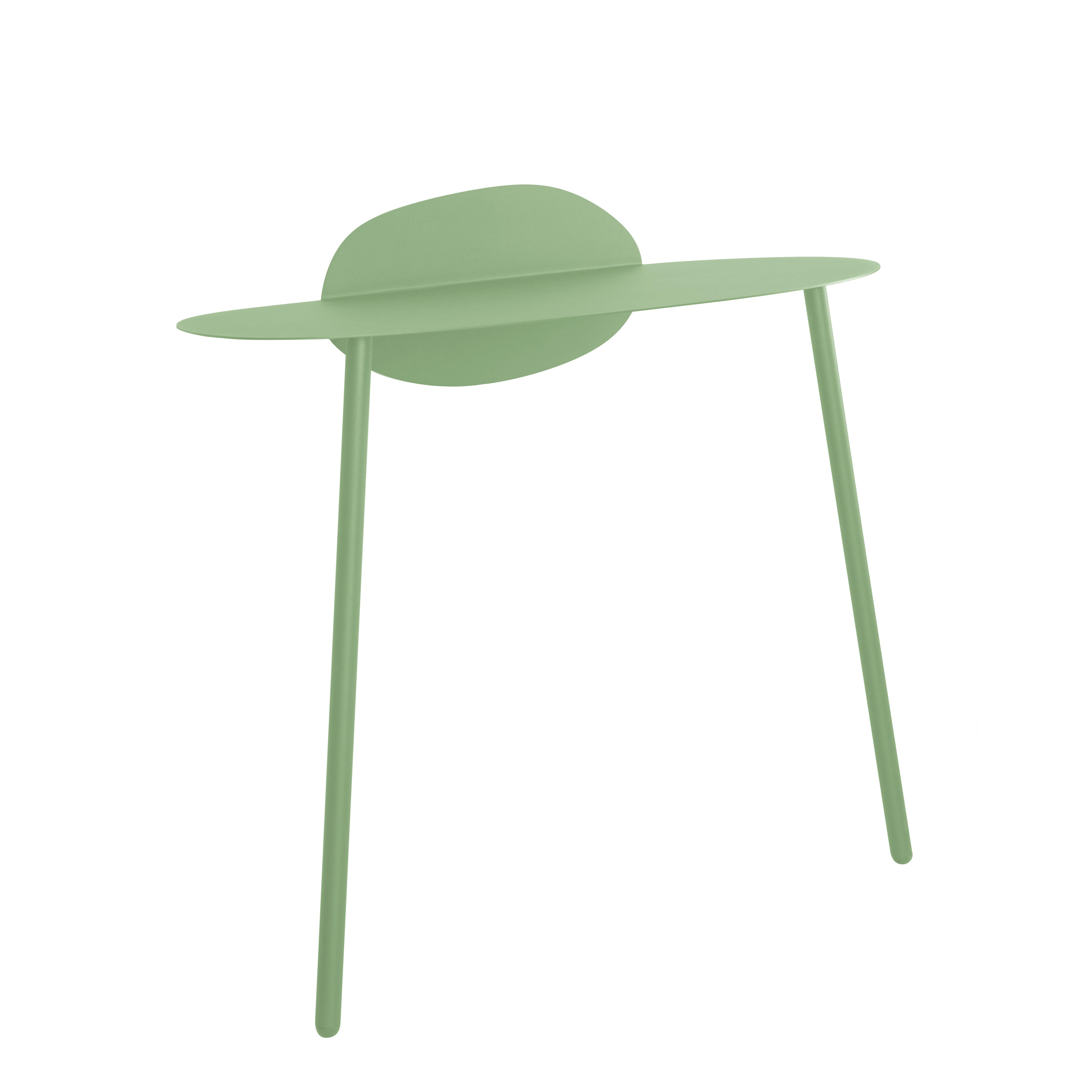 Furniture - Office Furniture - Surface Console - / Desk - Wall fastening - L 90 x Depth. 43 cm by Bibelo - Venetian sky green - Epoxy lacquered steel