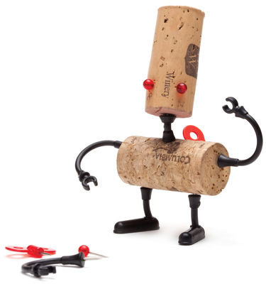 Tableware - Wine Accessories - Corker Robot Decoration by Pa Design - Luc - Plastic material
