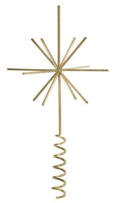 Dekoration - Dekorationsartikel - Christmas Top Star Dekoration / für den Weihnachtsbaum - Ferm Living - Goldfarben - Messing