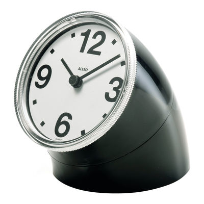 Decoration - Wall Clocks - Cronotime Desk clock by Alessi - Black - ABS