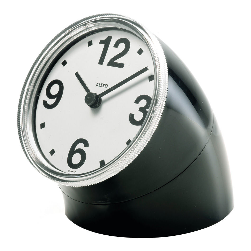 Decoration - Wall Clocks - Cronotime Desk clock by Alessi - Black - ABS