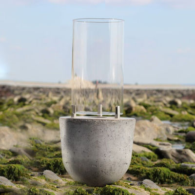 Lighting - Table Lamps - Bomboca Ethanol lamp - / Concrete & glass by Cacoon - Natural concrete / Glass - Concrete, Glass, Stainless steel