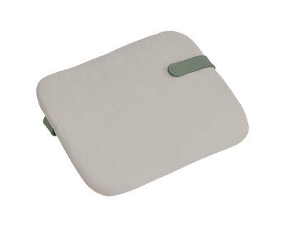 Galette Color Mix / Pour chaise Bistro - 38 x 30 cm - Fermob gris en tissu