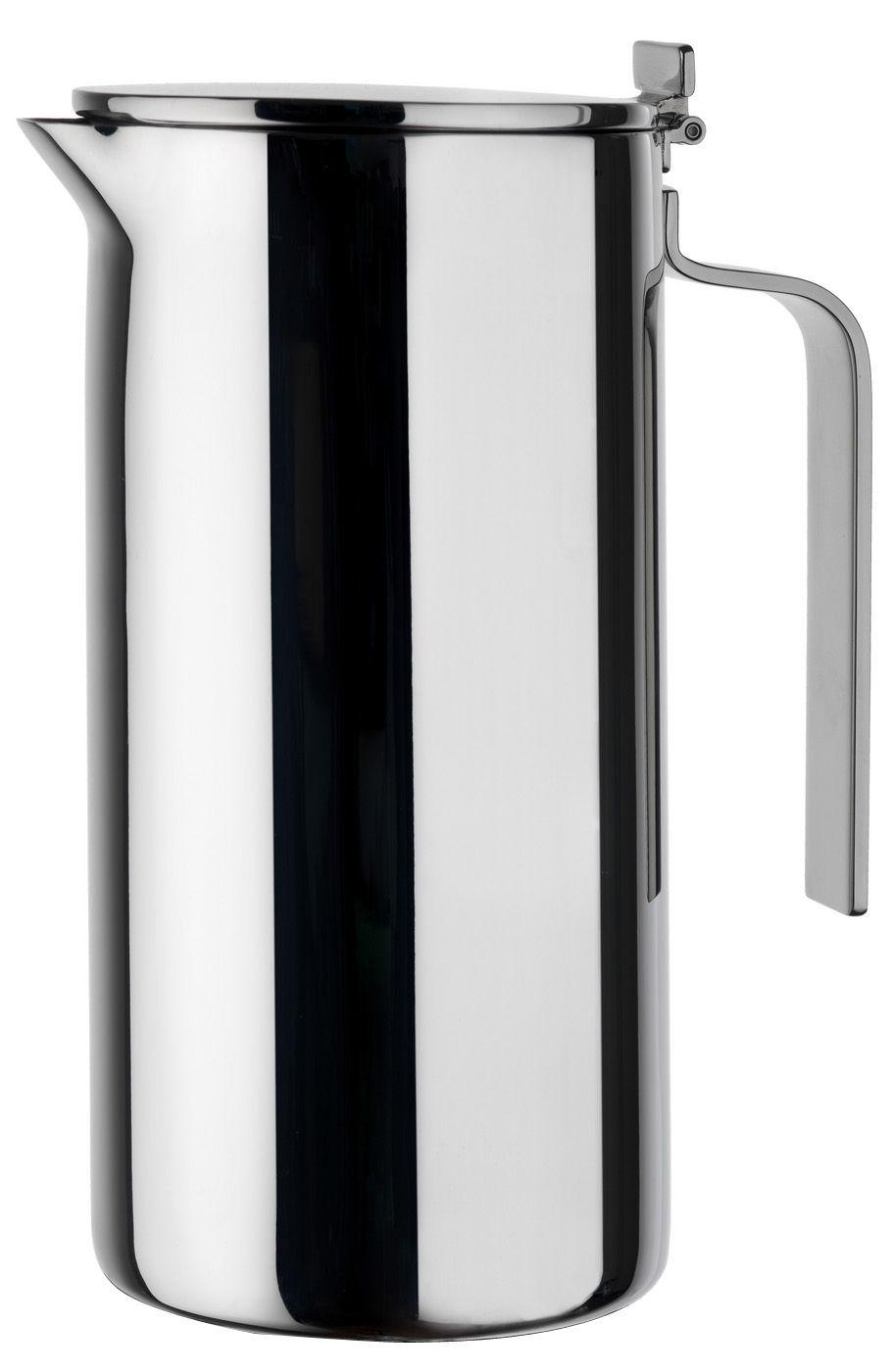 Tischkultur - Tee und Kaffee - Adagio Kaffeekännchen - A di Alessi - Stahl glänzend - 100 cl - rostfreier Stahl