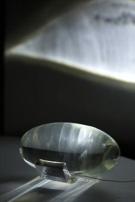 Illuminazione - Lampade da tavolo - Lampada da tavolo Atman di Catellani & Smith - Trasparente - Trasparente