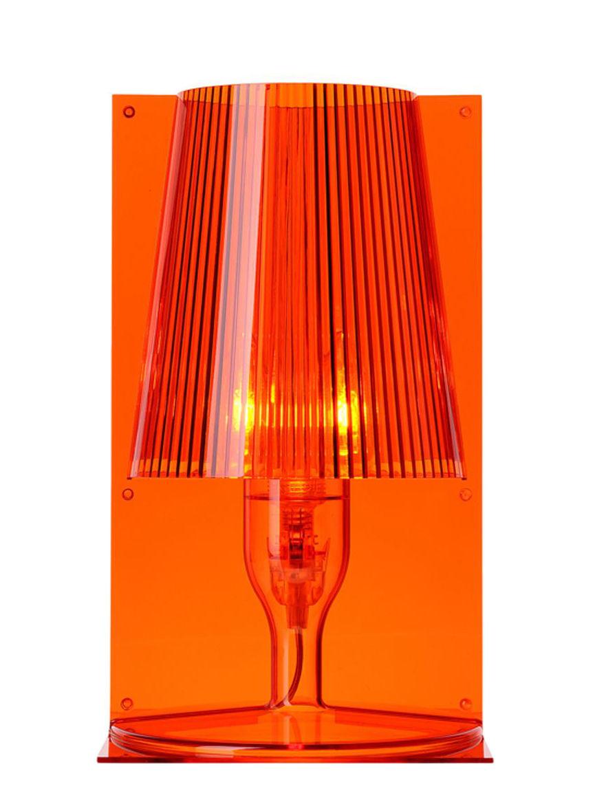 Lampada da tavolo take di kartell arancione made in design for Lampada da tavolo di design
