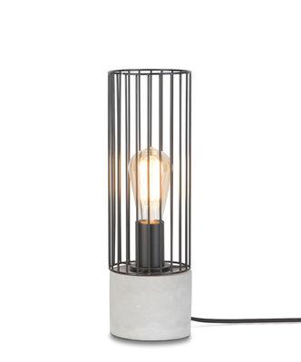 Lampe de table Memphis / Ciment & fer - It's about Romi gris,noir en métal