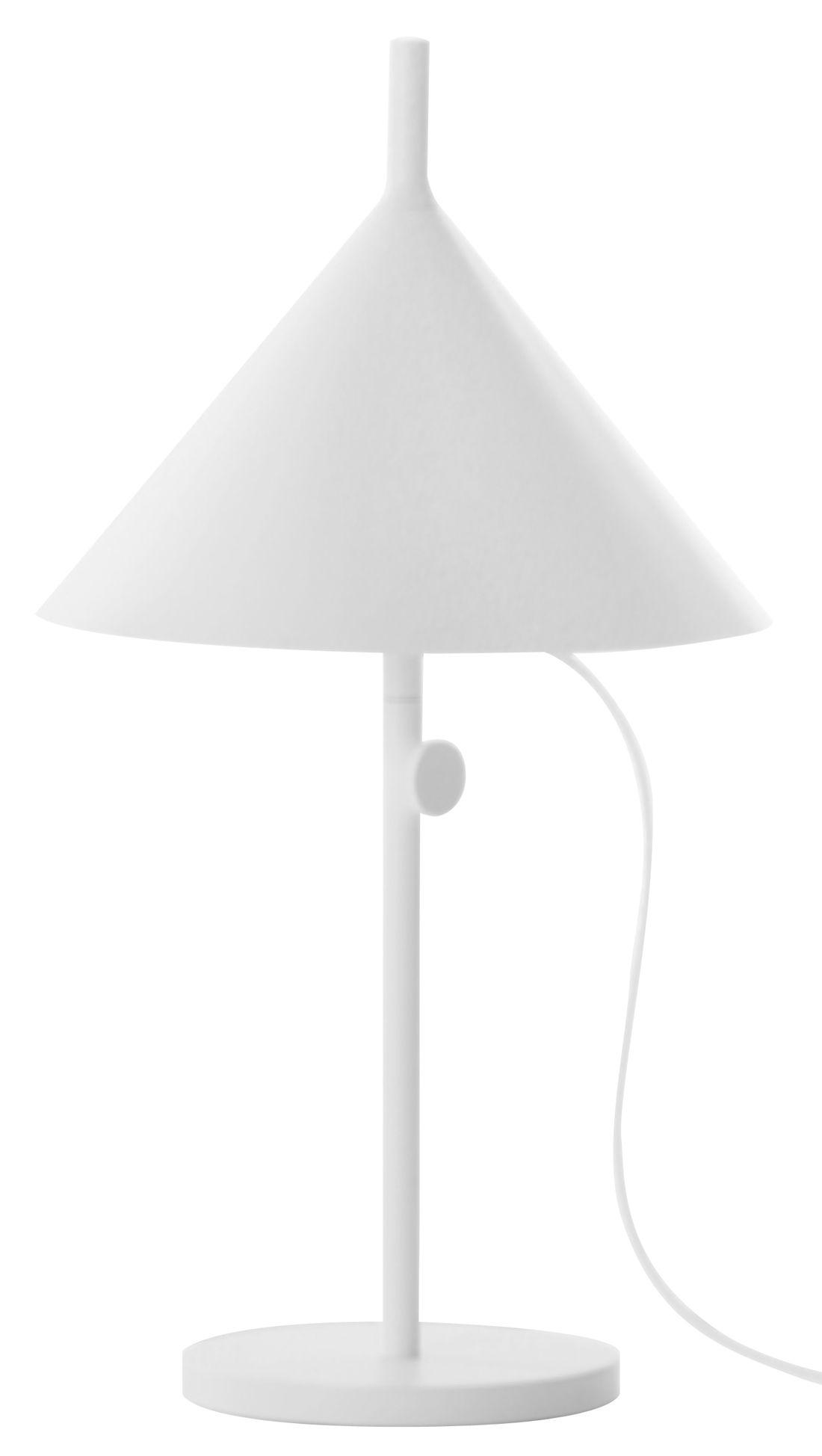 Luminaire - Lampes de table - Lampe de table Nendo Cone w132t / Hauteur réglable - Wästberg - Blanc - Acier