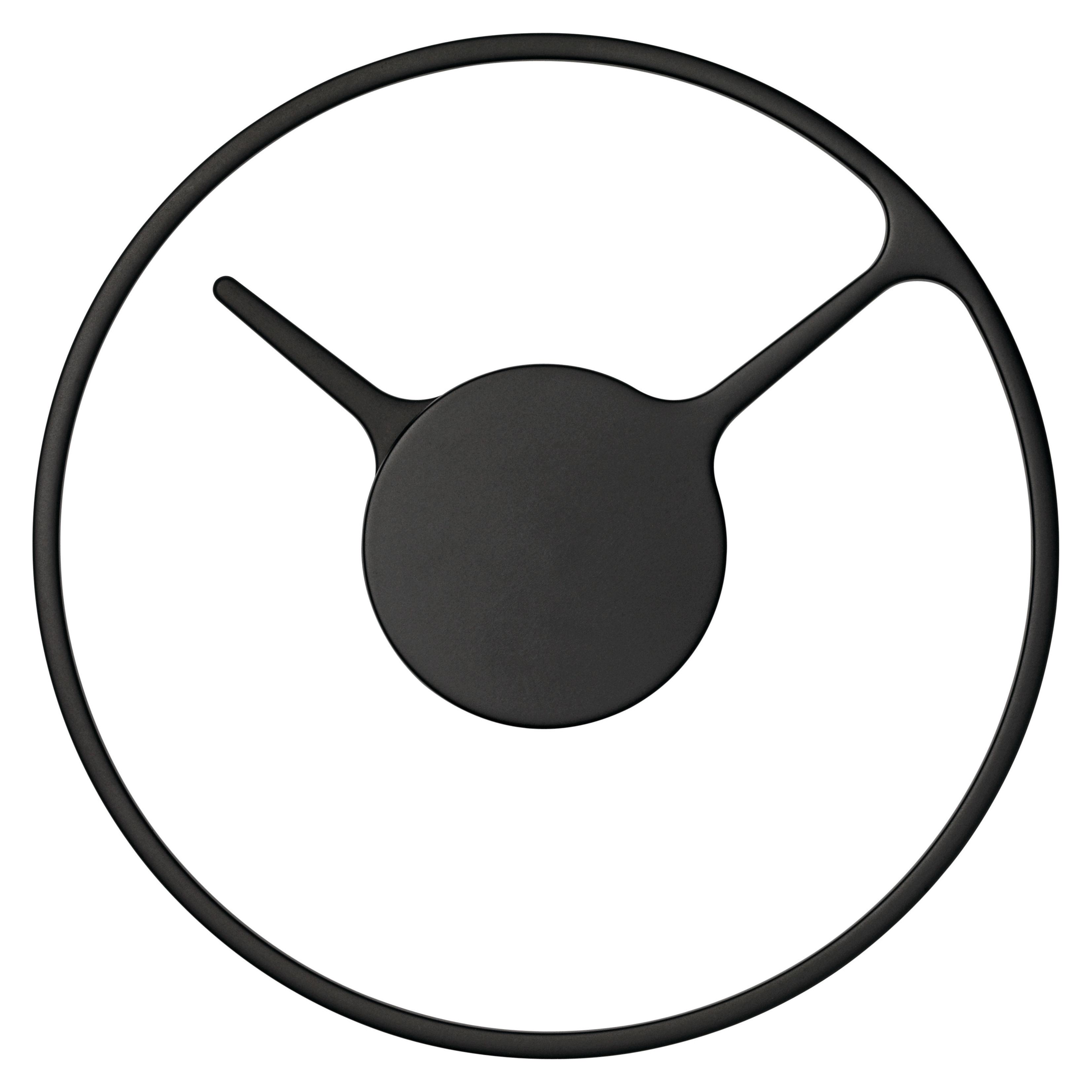 Interni - Orologi  - Orologio a parete Stelton Time Medium / Ø 22 cm - Stelton - Nero - Alluminio