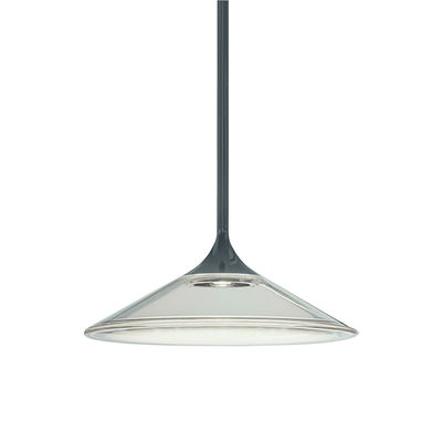 Lighting - Pendant Lighting - Orsa LED Pendant - / Ø 21 cm - Glass by Artemide - Ø 21 cm / Transparent & black - Lacquered metal, Methacrylate, Moulded glass