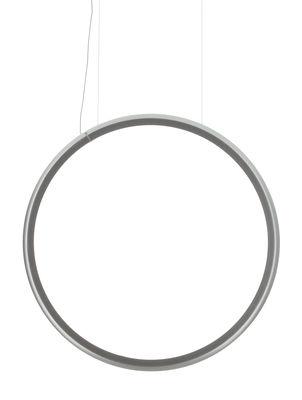 Discovery Vertical Pendelleuchte / Ø 140 cm - Artemide - Aluminium,Transparent