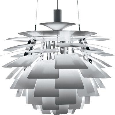 Leuchten - Pendelleuchten - PH Artichoke Pendelleuchte Ø 60 cm - Louis Poulsen - Edelstahl - Aluminium, Stahl