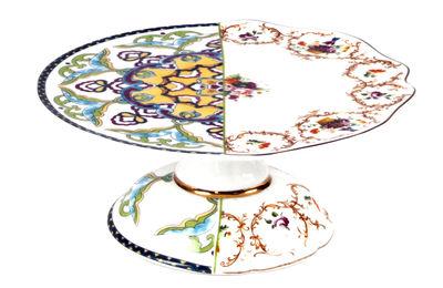 Tavola - Piatti da portata - Piatto per torta Hybrid Léandra - / Ø 20 cm di Seletti - Ø 20 cm / Multicolore - Porcellana Bone China