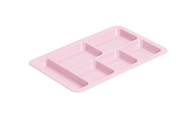 Plateau Cantine / Compartimenté - Hay rose en matière plastique