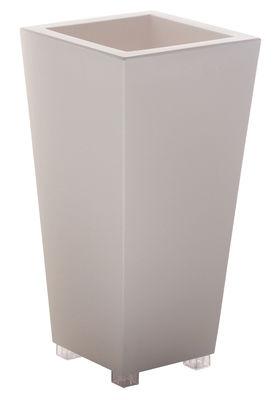 Pot de fleurs Kabin High 70 - Serralunga blanc en matière plastique