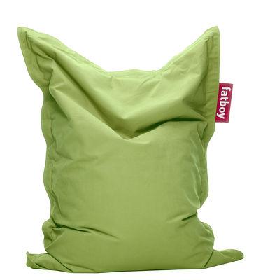 Pouf Junior Stonewashed / Pour enfant - Fatboy Larg 100 x L 130 cm vert citron en tissu