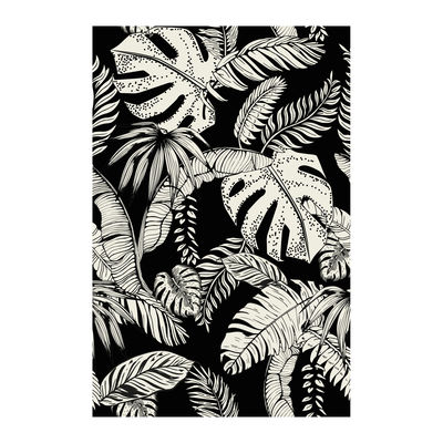 Decoration - Rugs - Botany Rug - / 198 x 139 cm - Vinyl by Beaumont - Black & White - Vinal