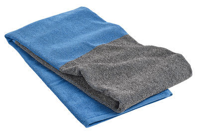 Serviette de plage Compose / 170 x 90 cm - Hay gris,bleu ciel en tissu