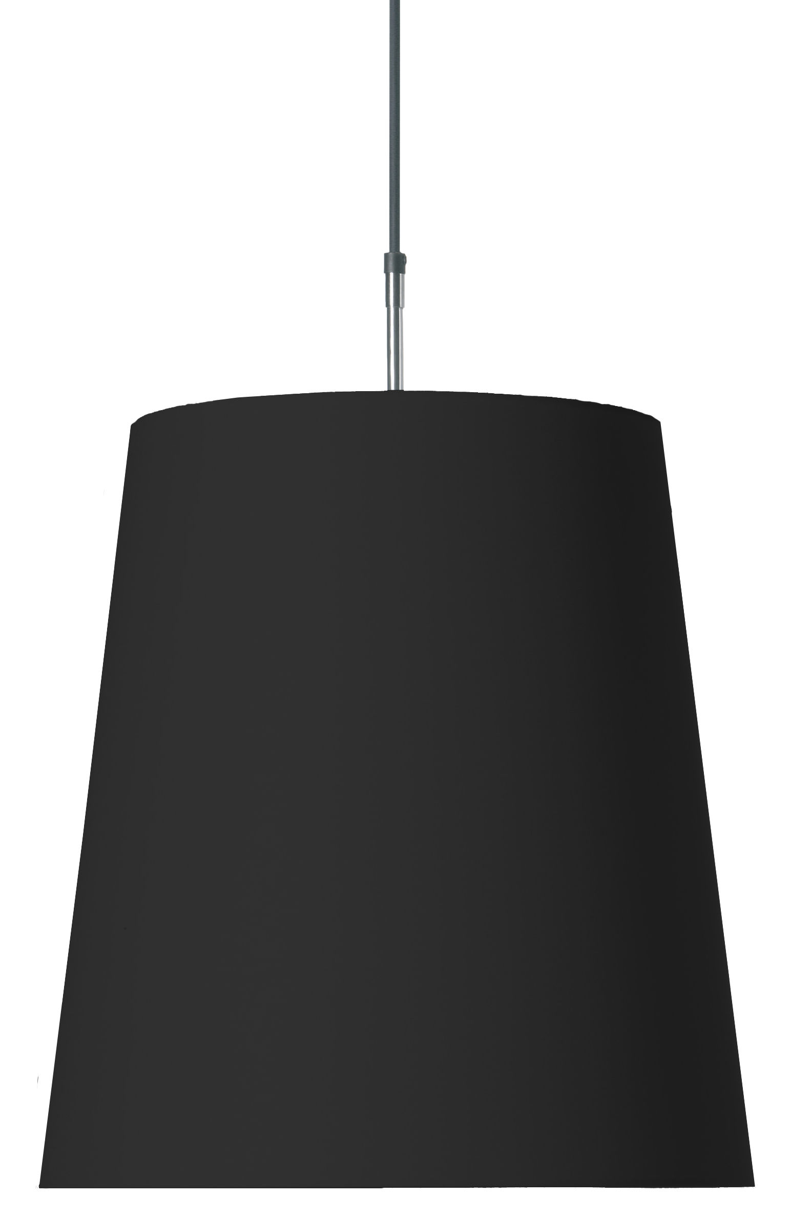 Illuminazione - Lampadari - Sospensione Round Light di Moooi - Noir - Cotone