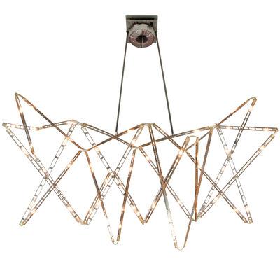 Illuminazione - Lampadari - Sospensione Vaisseau céleste - Articolata di Tsé-Tsé - Acciaio - Acciaio inossidabile