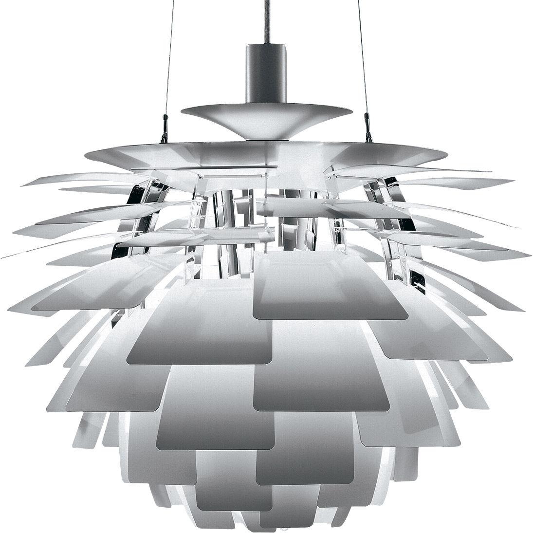 Luminaire - Suspensions - Suspension PH Artichoke Ø 60 cm - Louis Poulsen - Acier inox - Acier, Aluminium