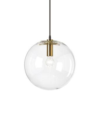 Suspension Selene / Ø 30 cm - Verre soufflé bouche - ClassiCon or/transparent/métal en verre