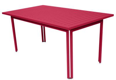 Table Costa / 160 x 80 cm - Fermob rose praline en métal