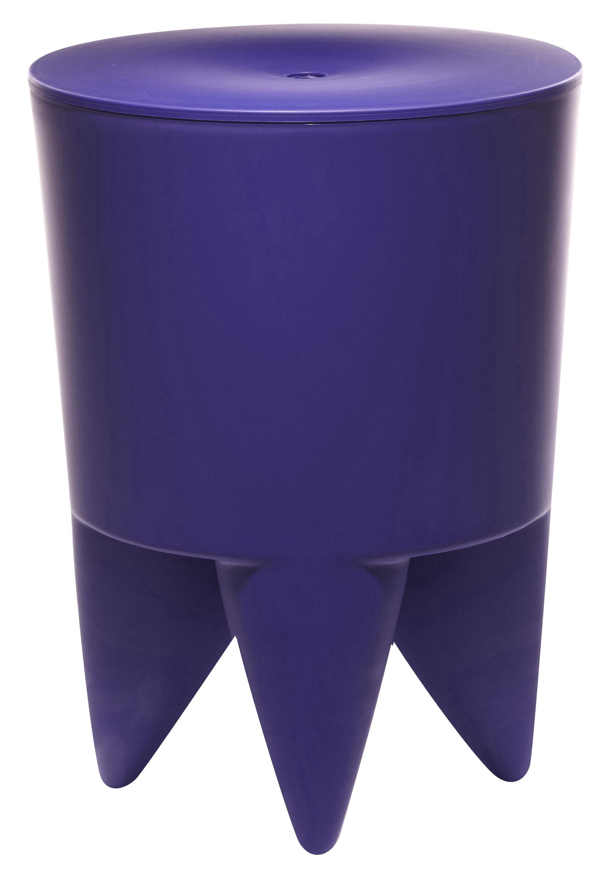Mobilier - Mobilier Ados - Tabouret New Bubu 1er / Coffre - Plastique - XO - Violet ultramarine - Polypropylène